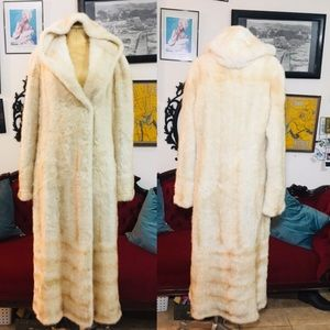 Genuine full length vintage mink fur knit sweater